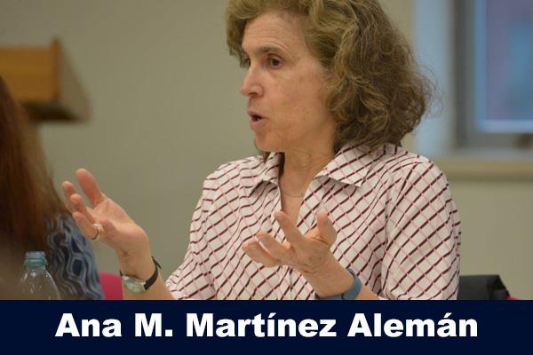 Ana M. Martínez Alemán at a CEPA speaker series