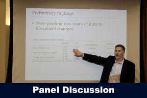 Shaun Dougherty during a CEPA panel discussion on 9.21.17