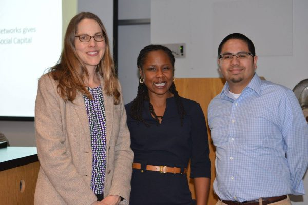 Morgaen Donaldson, Ebony Bidwill-Mitchell and Robert Cotto at recent CEPA event